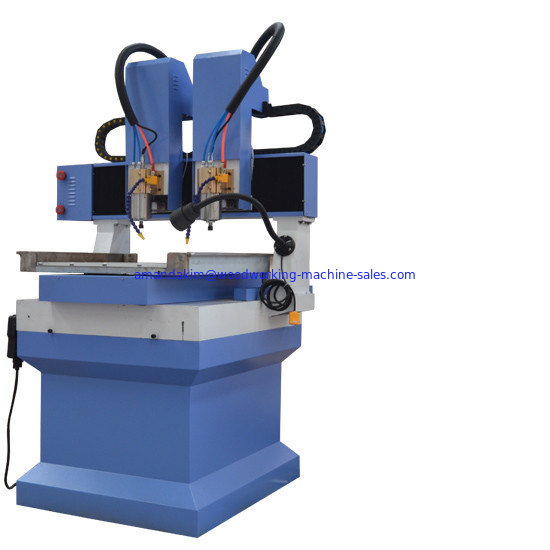 Multi heads small worktable size 400*400 cnc router machine for marble stone engraving and carving