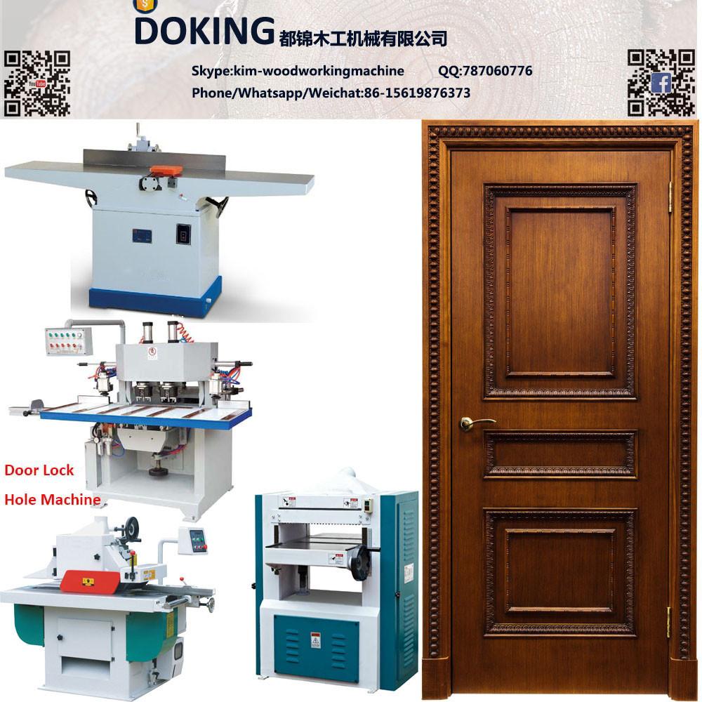 Solid Wooden Door Production Line Wood Door Making Machines