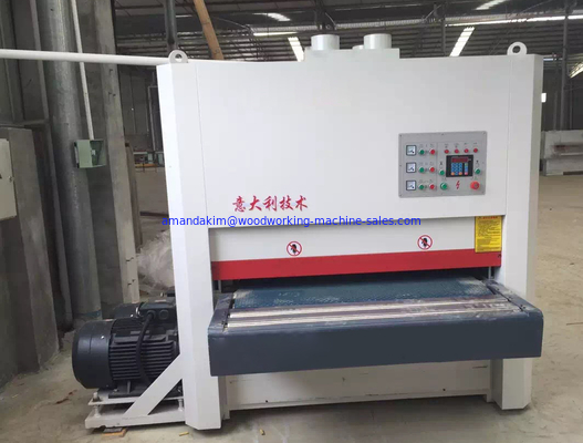 China Abrasive sanding belt Wide belt sander Two heads sanding machine distributor