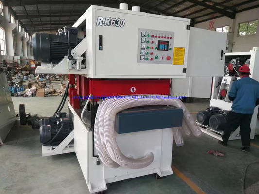 China double sides wide belt sander top and bottom wide belt sanding machine R-R630 distributor